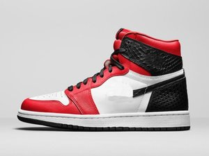Satin Snake jordon 1 High OG shoes for sale With Box good men women Basketball shoes Wholesale prices US4-US12