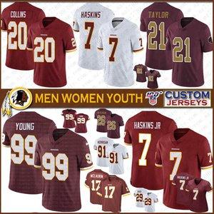99 погони молодой 21 Шон Тейлор Вашингтон пользовательские мужчины женщины дети футбол Джерси краснокожих 17 Терри McLaurin 8 двоюродных братьев 11 Джексон 7 Тисман
