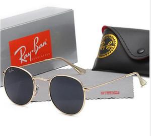 Круглые очки металла очки золотые вспышки линзы для мужчин и женщин зеркало очки круглые очки 369