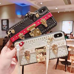 Tasarımcı telefon kılıfı iphone xs max için xr x / xs 7 p / 8 p 7/8 6 p / 6 sp 6/6 s moda kılıf ile lüks kickstand çanta cep telefonu kılıfı toptan