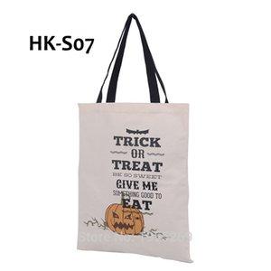 SATIŞ 5 Çeşitleri Halloween Tuval Çanta Örümcek Kabak Bez Çantalar İpli Torba Şeker Hediye tedavi veya Parti Dekorasyon Trick