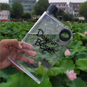 Pocket 380ml plastic hip flask outdoor travelling water flask portable children plastic water hip flask with free shipping
