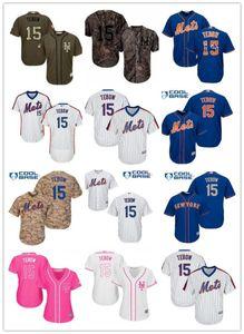 libera la nave personalizzati NY New YorkMets 15 Tim Tebow jersey baseball Mets maglie giovani uomini indossano baseball donne