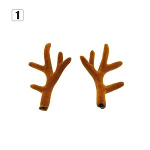 Christmas A Pair Simulation Antlers Headwear Headband Flocking Artificial Sika Deer Antlers Christmas Decorations Supplies