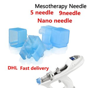 Mezoterapi Meso Gun İğne Kırışıklık Temizleme Cerrahi Stailess Çelik 5/9 İğneler Enjektör Kullanımı Için Bella Vital Makinesi DHL