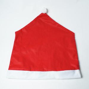 Dekorasyon Santa Sandalye Şapka Cap Noel Ev Partisi Şenlikli Kırmızı Dekoratif Hat Otel Eve Noel Yemeği Dekor Claus Clause Hediye Kapaklar