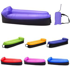 في الهواء الطلق نفخ صوفا كسلان قابلة للطي الترفيهية الهواء سرير التخييم المحمولة فائقة النوم الخفيف حقيبة نفخ صوفا كرسي