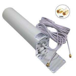 Freeshipping 4G LTE antena 3G 4G antennna externo antena externa com conector 5m dupla deslizante CRC9 / TS9 / SMA para modem roteador 3G 4G
