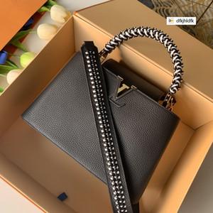 M55083 Schwarz Litschi-Muster-Woven Griff Beutelfrauenhandtaschen ICONIC HAND UMHÄNGETASCHEN TOTES Umhängetasche Abend Clutches