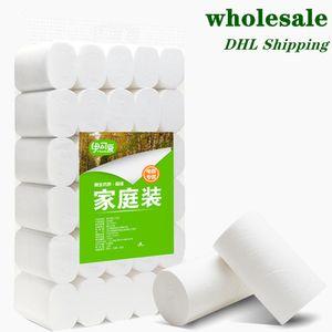 Em armazém de papel higiênico tecido grosso rolo DHL transporte rápido rolo de papel Wall Mount Toilet Paper Banho