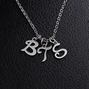 BTS Jimin армия Bangtan мальчиков A. R. M. Y письмо кулон с цепи ожерелье серебро из нержавеющей стали ожерелья Для мужчин женщин