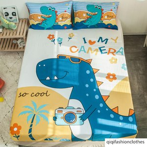 Children's bed hat single piece pure cotton bedspread cartoon 1.5 m 1.2 bed mat cover dust protection cover cotton 1.8m