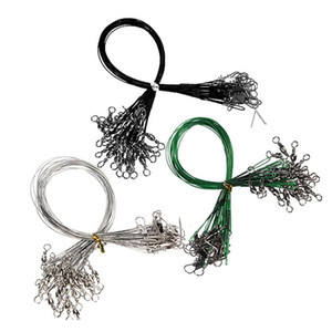 72pcs / lot 내마 모성 낚시 라인 커넥터 회전 회전 스테인레스 스틸 회 전자 와이어 추적 세 가지 크기를 미끼