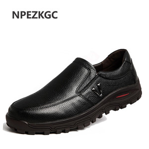 NPEZKGC New Handmade Genuine Leather Men Shoes, spring autumn Business fashion Men Casual Shoes, Shoes