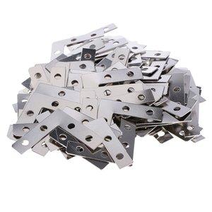 150 parti del metallo L Forma Cornice d'angolo Brace piastra piatto Angolo Staffa