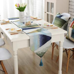 Mesa moderna Runner chemin de table Runners para banquete de boda camino de mesa tafelloper mantel geométrico decoración para el hogar