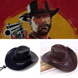 게임 Red Dead Redemption 2 카우보이 모자 코스프레 의상 소품 모자 가죽 남여