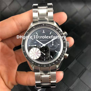 Top OMF professionale Moonwatch 42 millimetri Mens Swiss Watch di Mano-bobina 1863 Movimento Cronografo cristallo di zaffiro 316L acciaio lunetta in ceramica
