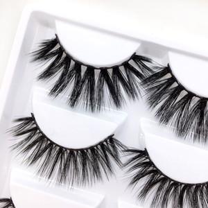 Nouveau mélange 6 Style Multipack False Eyelash 3D Cils Doux De Vison Maquillage Des Yeux Naturels Faux Cils DHL Mix C