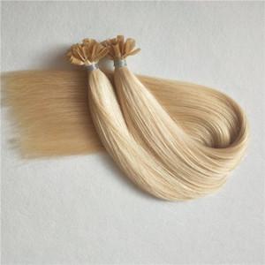 Светлый цвет 1 г прядь 100 прядей / комплект Nail / U кончик волос наращивание кератина человеческих волос