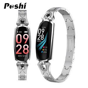 Frauen Mode Smart Watch Damen Sport Fitness Smart Armband Bluetooth Schrittzähler Pulsmesser Für Android / IOS Mit Kamera