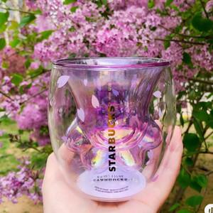 2020 Caneca New Purple Cat Sakura Caneca A pata do gato garra Starbucks Limitada Eeition criativa do copo de café Sakura 6 oz