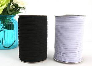 200 ярдов / черно-белые нейлоновые резинки качество эластичный пояс 1/8 тощий эластичный 3 мм ширина для одежды брюки швейные аксессуары DIY