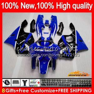 Body For KAWASAKI ZX 636 600CC ZX-636 ZX6R 94 95 96 97 50HC.72 ZX636 ZX-6R ZX600 ZX 6 R 6R 1994 1995 1996 1997 Full blue black Fairing kit