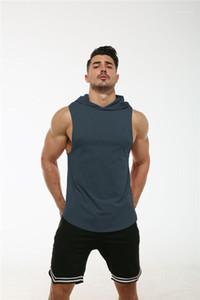 Designer Felpe Mens Sports Felpe con cappuccio di colore solido di modo di estate senza maniche Homme Abbigliamento Pallacanestro Jogging casual