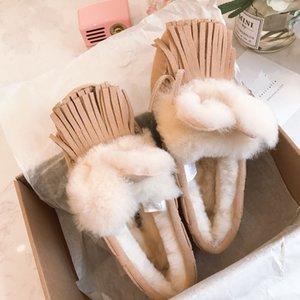 ayakkabı sürüş ONLINE Yeni W Solana Loafer Püsküller Sliper kar botları hamile kadınlar ayakkabı yüksek konsantrasyon Avustralya yün kar botları 36-40