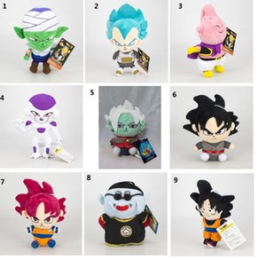 16-20cm Dragon Ball Z en peluche Jouets Goku Gohan Piccolo New Cartoon Krilin Vegeta Beerus farcies Poupées enfants jouet cadeau de Noël