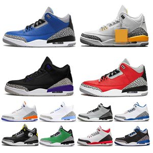 Nike air jordan 3 AJ3 WE THE BEST Katrina Zapatillas de baloncesto para hombre Greatful Pure White True Blue JTH cemento negro cemento blanco Zapatillas deportivas FREE THROW LINE