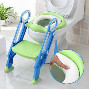 Klappbares Toilettensitzkissen mit Stufen für Kinder Einstellbar Einfach zu reinigende Töpfchenbezüge Candy Color Sichere Toilettensitze BH2071 CY