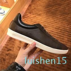 designer man Casual shoes 100% Printed leather sneaker Letters lace-up luxury woman shoes black brown coach men Ladies Flat shoes 35-45 l15