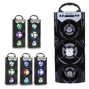 Yeni Geliş Açık Taşınabilir Kablosuz Bluetooth Hoparlör, MS-220BT Eonec FM Radyo AUX LCD Ekran TF Kart Müzik Playing Shinning LED