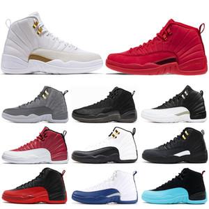 Nike air jordon 12 12s Оптовая 12 12s мужчины баскетбольная обувь кроссовки черный белый плей-офф мастер тренажерный зал Красный гамма синий 12s мужская спортивная обувь 7-13