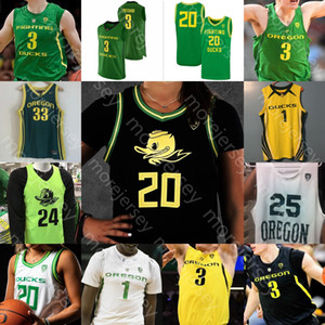 Personnalisé Oregon Ducks Basketball Jersey NCAA Payton Pritchard Anthony Mathis Chris Duarte Juiston Okoro Patterson Will Richardson Bol