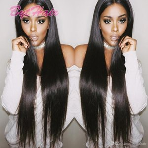 Bythair Brazilian Human Hair Full Lace Wigs Virgin Hair Silk Straight Glueless Full Lace Wigs Black Women Lace Front Wigs With Baby Hair
