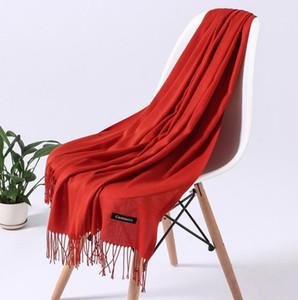 Automne et hiver Couleur pure Cachemire comme Echarpe Femme Bastard Monochrome Chaud Chaud livraison gratuite