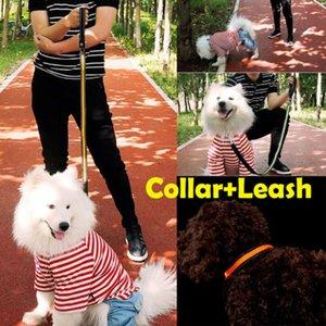 120 см LED Light Up + светоотражающая полоса собака кошка ошейник мигающий безопасности Pet поводок