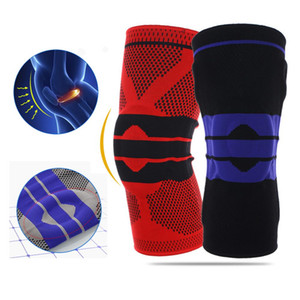 1Pc High Elasticity Knee Protector Fitness Running Basketball Gym Sport Braces Knee Support Nylon Silicon Outdoor Guard Kneepad
