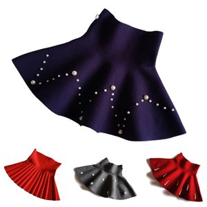 New Fall and Winter Children Clothing Girls Fashion Casual Knitted Skirt Bottoming Pearl Princess Tutu Skirts for 3-10Yrs Kids