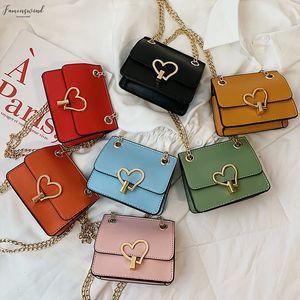 Hasp Women Solid Heart Hasp Crossbody Bags For Women Children Shoulder Handbag Diagonal Crossbody Bag Phone Purse 15