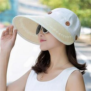 Women Fashion Cycling Foldable Bucket Hat Summer Travel Gift Wide Brim Solid Soft Outdoor Sports Sun Protection Beach