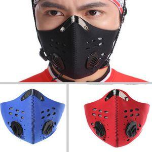 Atmungsaktive Radfahren Gesichtsmaske Anti Fog PM2. 5 Sport Training Anti Verschmutzung Laufmaske Mit Aktivkohlefilter LJJO7811