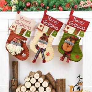 Noel Çorap Dekorasyon Santa Sacks Noel Çorap Çorap Noel Hediyesi Çanta Yılbaşı Hediyeleri Yılbaşı kolye Dekor
