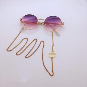 2adet lüks CC tasarımcı güneş gözlüğü zinciri readingglasses zincirleme mektup dekorasyon kaymaz halat dize boyun kordonu tutma silikon döngü