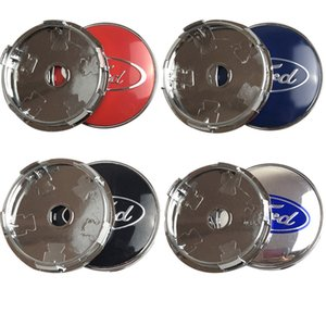Estrenar 4pcs / lot azul 60mm cubierta tapacubos para centro de rueda de Ford Cap de fusión de Ford Focus 3 Fiesta ST Mondeo MK4 MK2 guardabosques Kuga Mustang31