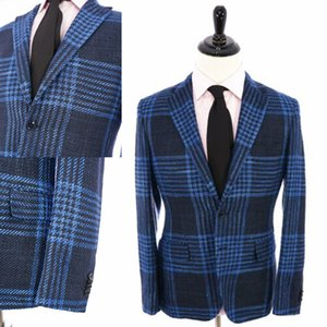 Mens Suits Handsome Two-Button Harris Tweed Groom Suit Custom Made Slim Fit 2 Pieces Set Wedding Tuxedos Best Man Jacket Pants T200707