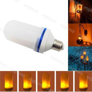 Ampuller 3W Yerçekimi Sensörü E27 SMD2835 3 Modları LED Etkisi Yangını Yılbaşı Cadılar Bayramı Dekorasyon Için Flickering Alev Lambaları Dekorasyon Eub